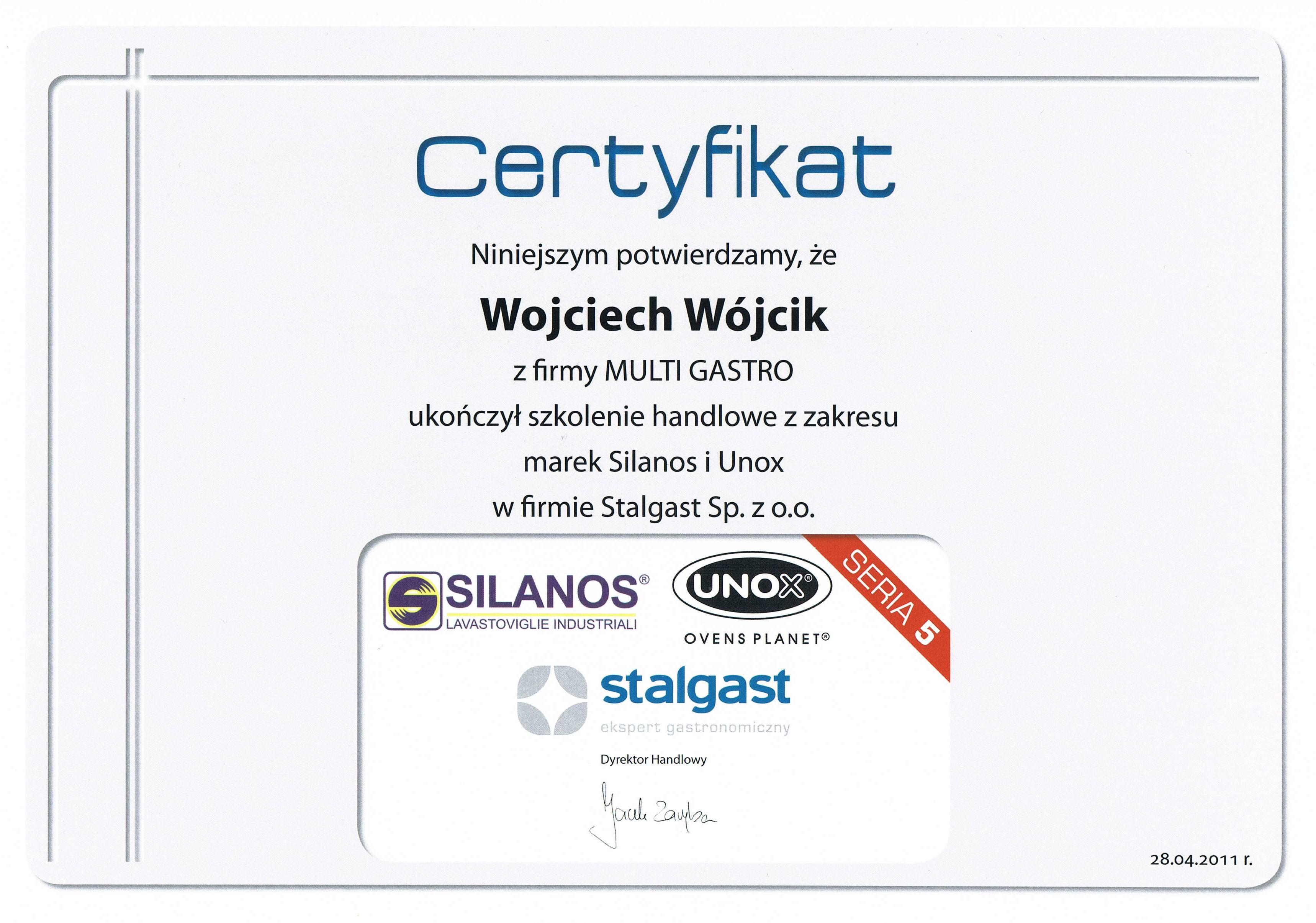 certyfikat Stalgast