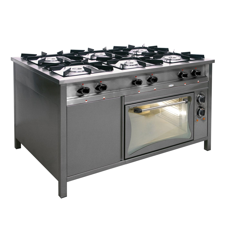 Kuchnia Trzon Gazowy 6 Palników Z Piekarnikiem Elektrycznym Egaz 1300x740x850